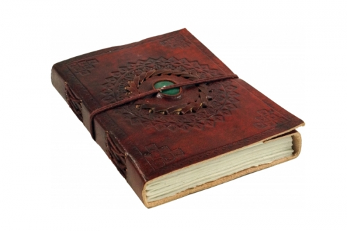Notebooks covered with leather