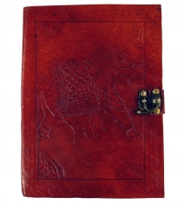Notebook, leather book, diary with leather cover - Elephant 17*23..