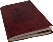 Notebook, leather book, diary with leather cover - Ganesh 12*17 c..