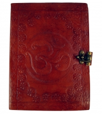 Notebook, leather book, diary with leather cover and - OM 17*23 c..