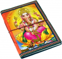 Indian notebook, diary, writing book - Ganesha