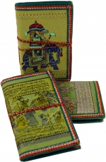 NotebookDiary with indian motive - green