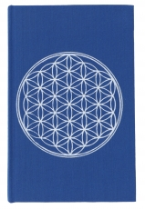 notebook, diary - flower of life blue