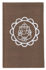 Notebook, Diary - Ganesh Mandala brown